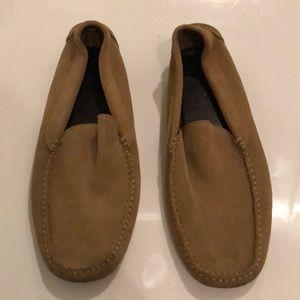 J Crew Men's Camel suede loafers